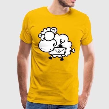 Aktentaschen Schaf - Männer Premium T-Shirt