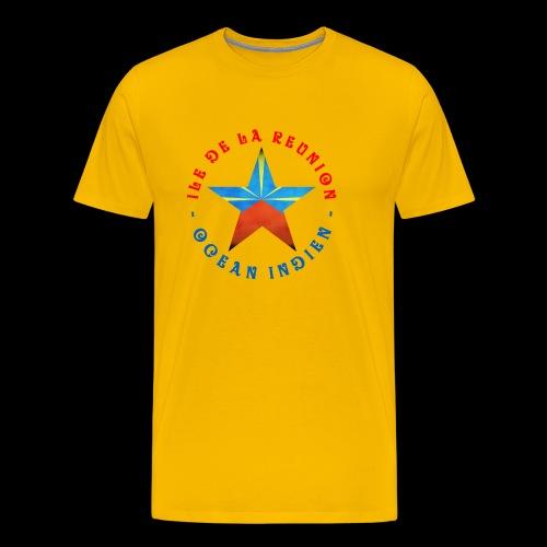 Collection Etoile Lo Mahavéli drapeau régional - T-shirt Premium Homme