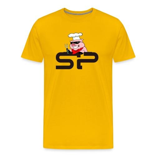Strangepig's first logo - Premium T-skjorte for menn