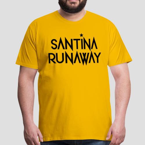 DJ Santina Runaway - Logo - Black - Men's Premium T-Shirt