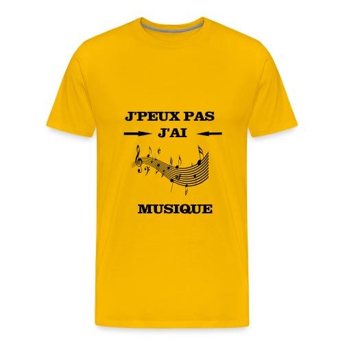 JPEUX PAS J'AI MUSIQUE - T-shirt Premium Homme