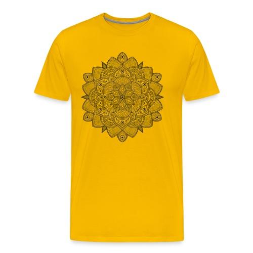 Mandala (Negro) - Camiseta premium hombre
