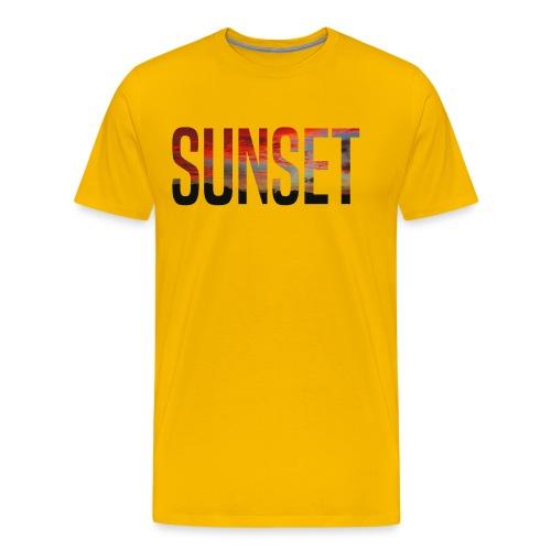 sunset - T-shirt Premium Homme