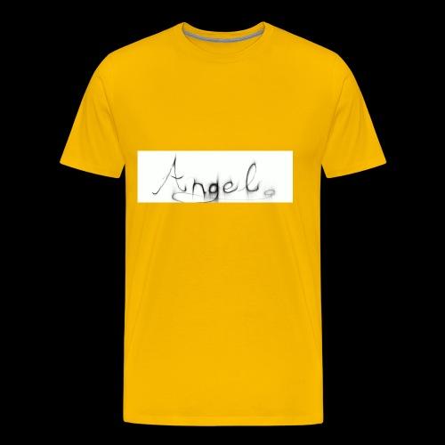 angel text - Men's Premium T-Shirt