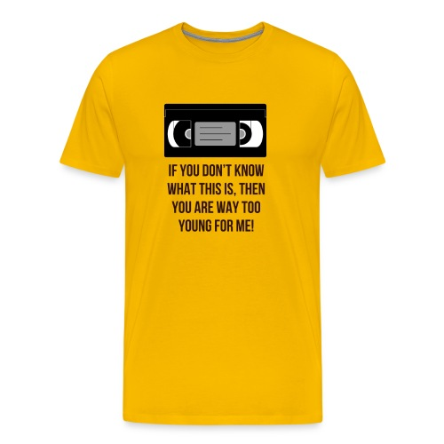 Retro VHS - Men's Premium T-Shirt