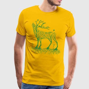 venados forestales en verde - Camiseta premium hombre