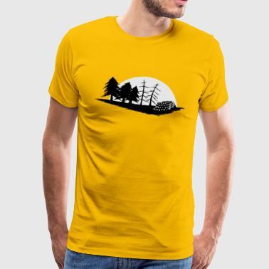 bosque forestal Forestal regalo de luna de ajuste - Camiseta premium hombre