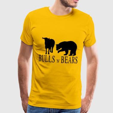 Bulls ja Bears - Miesten premium t-paita
