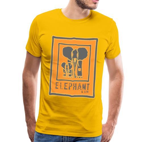Elefant und Sohn - Männer Premium T-Shirt
