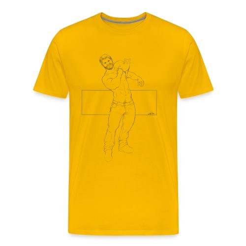 uomo con gatto - Maglietta Premium da uomo