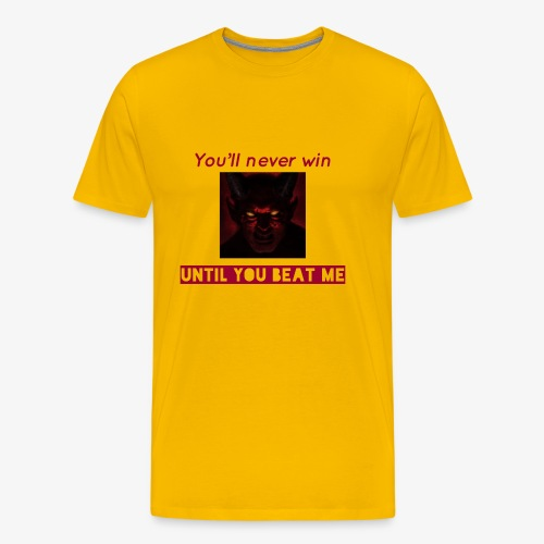 The unbeaten devil - Men's Premium T-Shirt