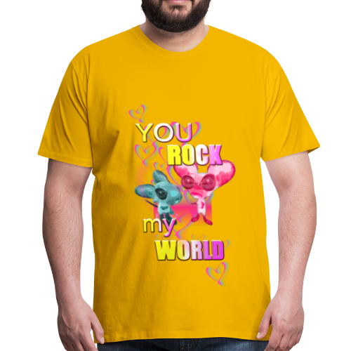 You Rock my World ♥ - Männer Premium T-Shirt