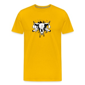 14255266 Vector illustration skull bull and crosse - Men's Premium T-Shirt