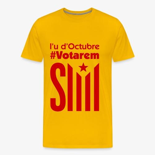 referendum 2017 vermell - Camiseta premium hombre