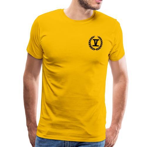 V Schwarz - Männer Premium T-Shirt