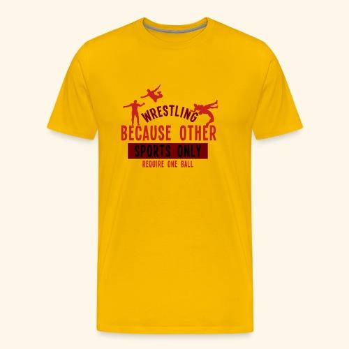 lustige Wrestlinghemden - Männer Premium T-Shirt