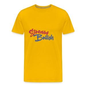 StreamBritish Logo - Men's Premium T-Shirt
