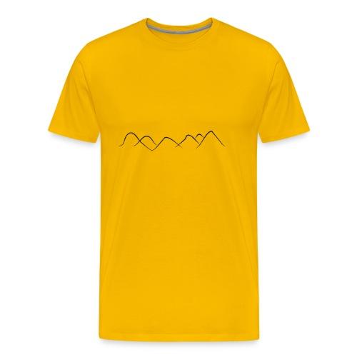 Berge - Hügel - Männer Premium T-Shirt