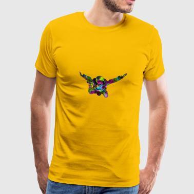 paracadutisti colorati - Maglietta Premium da uomo