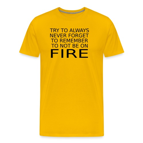 Don't Be On Fire - Men's Premium T-Shirt