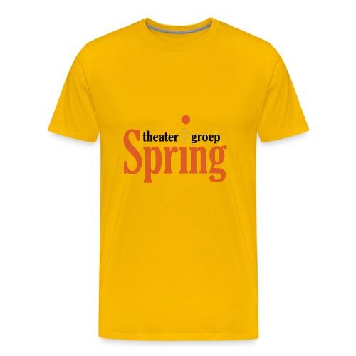 Gymtas met logo van Theatergroep Spring - Mannen Premium T-shirt