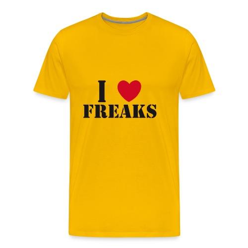 I LOVE FREAKS - Männer Premium T-Shirt