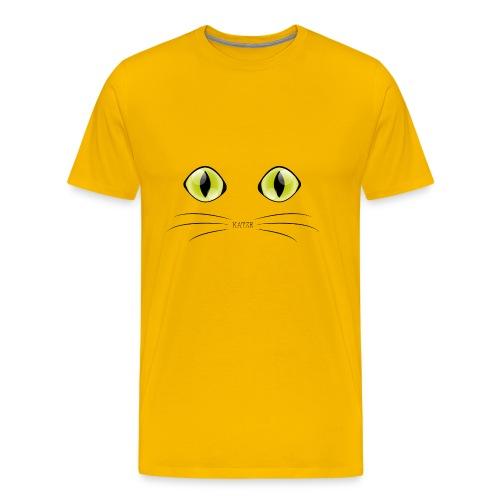 Katzenaugen Grün - Männer Premium T-Shirt