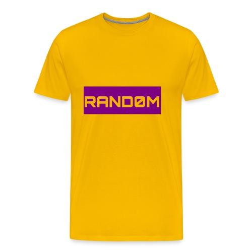 RAND0M SMALL LOGO - Men's Premium T-Shirt