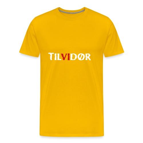 TILVIDØR LOGO - Herre premium T-shirt