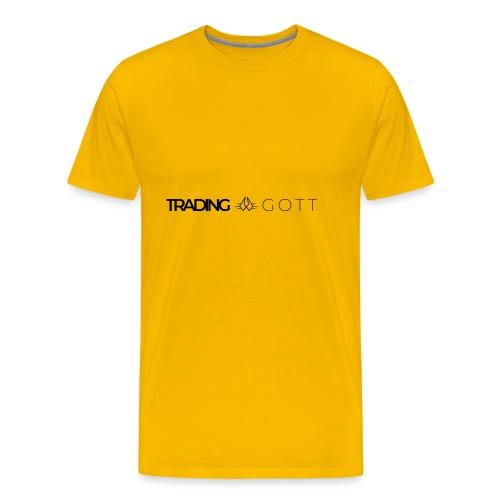TRADINGGOTT Logo schwarz - Männer Premium T-Shirt