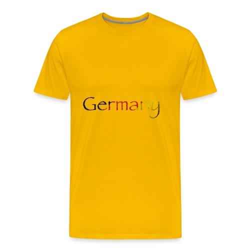 DeutschlandSchriftzug Schräg - Männer Premium T-Shirt