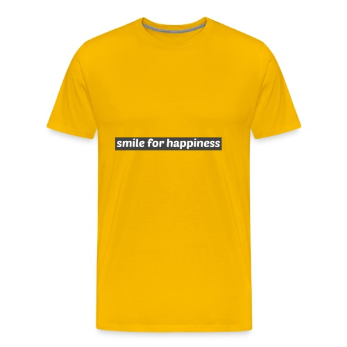 smile for happiness - Premium-T-shirt herr