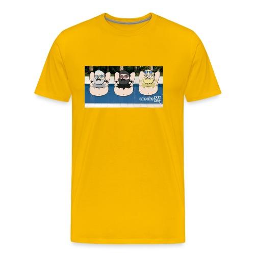 Gorditos en la piscina - Camiseta premium hombre