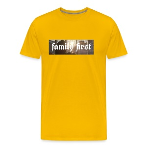 Family First Sunrise Box Logo - Männer Premium T-Shirt