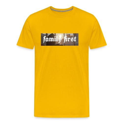 Family First Sunrise Box Logo - Männer Premium T-Shirt