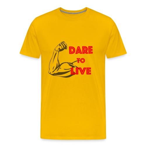 Dare2Live - Mannen Premium T-shirt