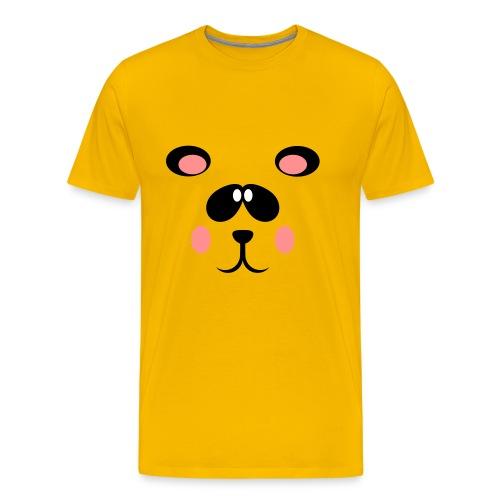 Blozende pandabeer - Mannen Premium T-shirt