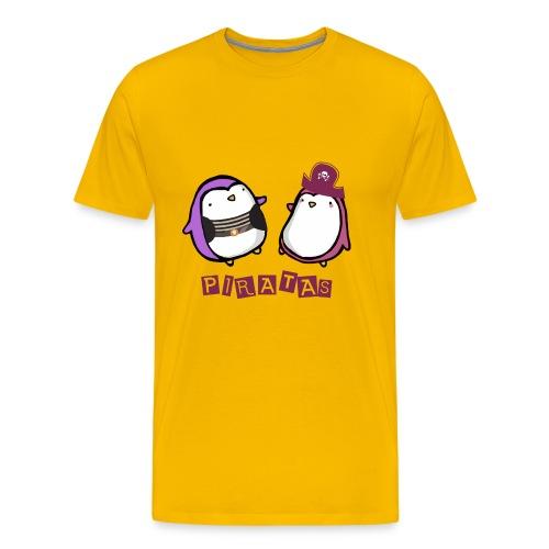 PINGUINOSPIRATAS - Camiseta premium hombre