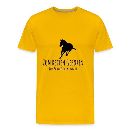 Cooles Reiten Design - Männer Premium T-Shirt