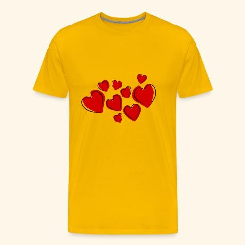 9 Herzen - Männer Premium T-Shirt