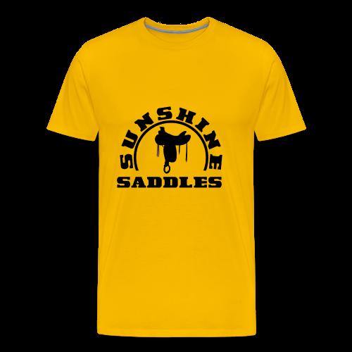 LogoSunshineSaddlesSchwarzTransparent - Männer Premium T-Shirt