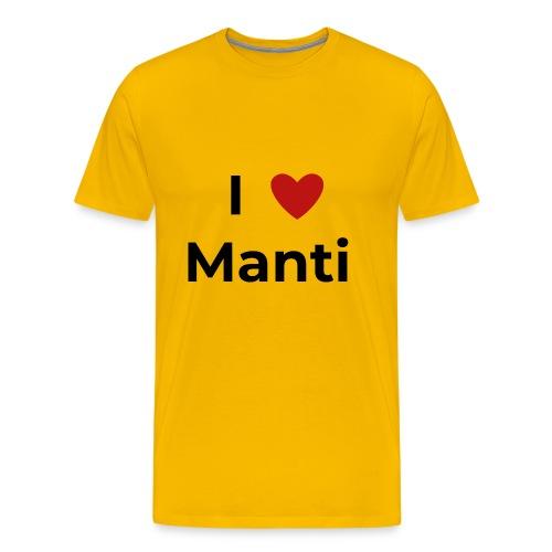 I love Manti - Männer Premium T-Shirt
