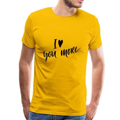 iloveyoumore - Men's Premium T-Shirt