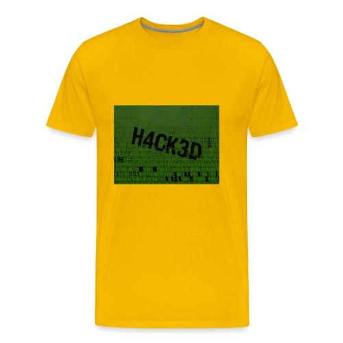 H4CK3D - Männer Premium T-Shirt