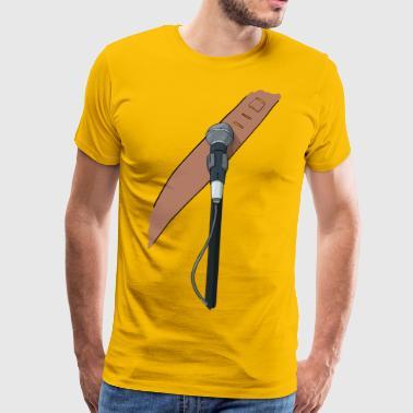 Mikro und Gitarre - Männer Premium T-Shirt