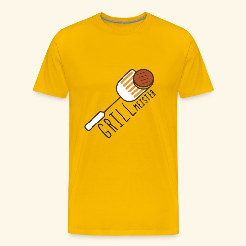 Grillmeister Grillen Braten Burger Rippchen Steak - Männer Premium T-Shirt