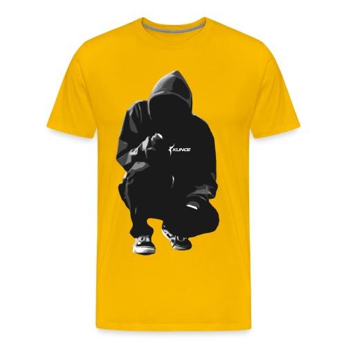 Kunce Clothing Original Hoodie B/W Trace - Men's Premium T-Shirt