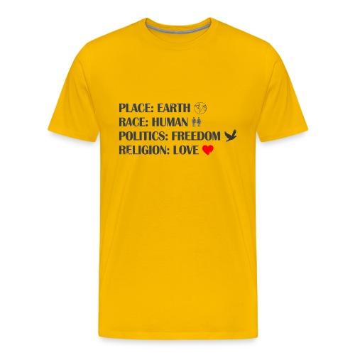 place race politics religion - Männer Premium T-Shirt