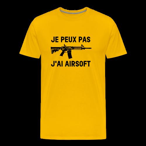 Je peux pas j'ai airsoft - T-shirt Premium Homme