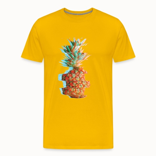 Pineapple Glitch - Men's Premium T-Shirt